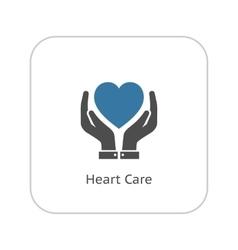 Heart Care Icon Flat Design vector