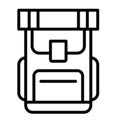 hiking backpack icon outline style vector image