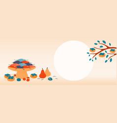 Korean holiday chuseok banner design vector