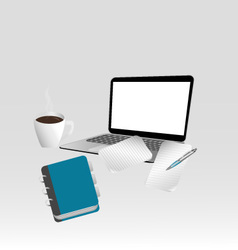 Leafnotebook laptop vector image