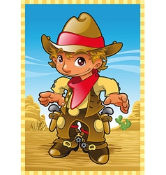 Little Cow Boy vector