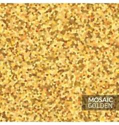 Luxury golden vintage mosaic background grunge vector image