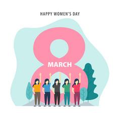 march 8 happy international women day design vector image