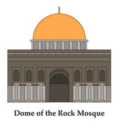 Mosaic al-aqsa mosque vector