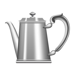 old metallic teapot and coffee pot vector image