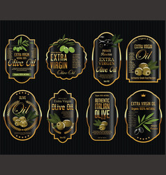 olive oil retro vintage background collection 1 vector image