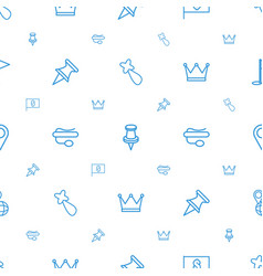 pin icons pattern seamless white background vector image