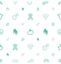 pink icons pattern seamless white background vector image