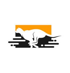 running cheetah animal logo vector image