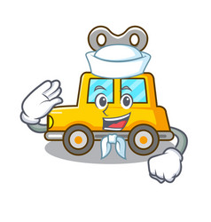 Sailor character clockwork car for toy children vector