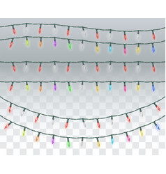 set real bright colorful christmas light vector image