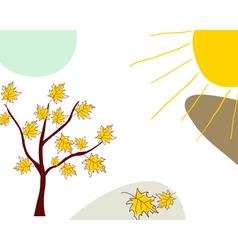 Sketch autumn vector