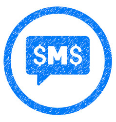 sms message rounded grainy icon vector image