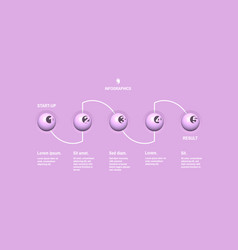 startup infographic template with 5 steps concept vector image