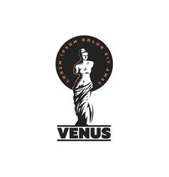 Statue of venus is mondial vector