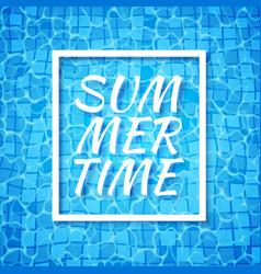 Summer time swimming pool bottom caustics ripple vector