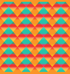sunny color triangle seamless pattern vector image