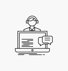 Support chat customer service help line icon vector