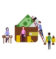 teamwork work people financial analyst vector image