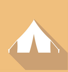 tent icon a long shadow vector image