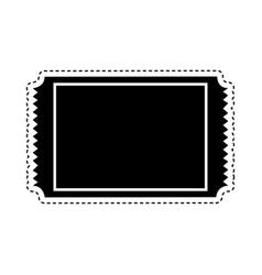 Ticket cinema isolated icon vector