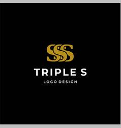 Triple s logo vector