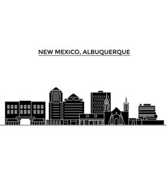 Usa new mexico albuquerque architecture vector