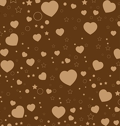 Valentine Day and colorful Heart on Brown vector image