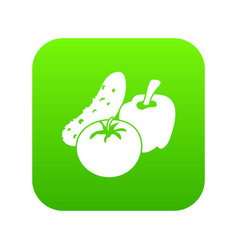 vegetables food icon green vector image