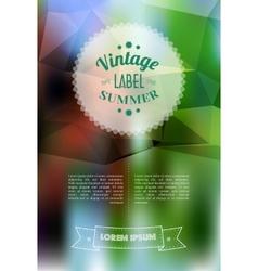 Vintage sale discount label on modern blurred vector
