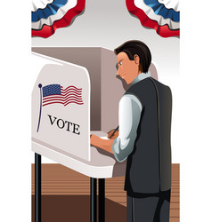 voting man vector image