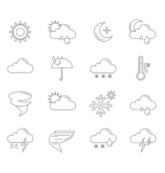 weather icons outline vector image