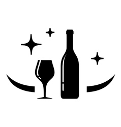 Wine card symbol vector