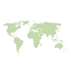 world map green template vector image