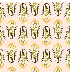 young flower pattern vector image vector image