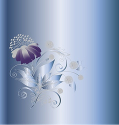 Background composition with a flower1 vector image vector image