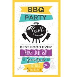 Barbecue party invitation bbq template menu design vector
