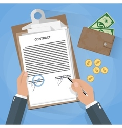 businessman document signing vector image vector image