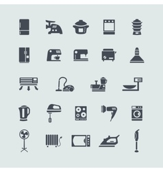 Set of white goods icons vector image