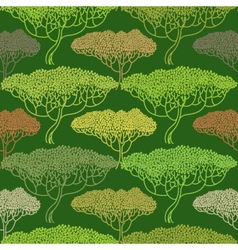 Stylized abstract autumn tree pattern vector image
