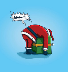 bad back santa vector image