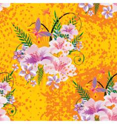 flower seamless background vector image vector image