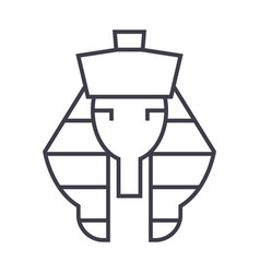 pharaoh line icon sign on vector image