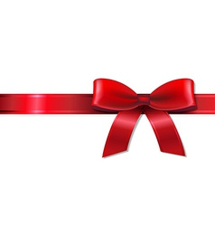Red Bow With Ribbon vector image vector image