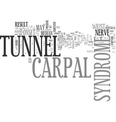 what you need to know about carpal tunnel vector image vector image