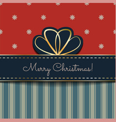 christmas vintage card vector image vector image