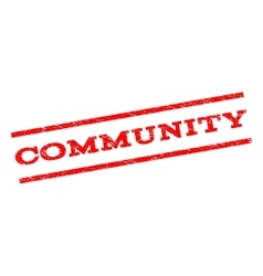 Community Watermark Stamp vector image vector image
