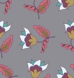 Hand drawn cute flower seamless pattern vector