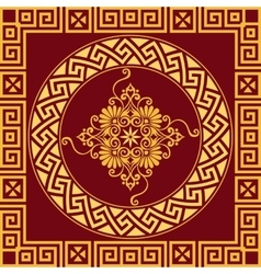 vintage gold Greek ornament Meander vector image vector image