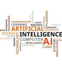 word cloud artificial intelligence vector image vector image